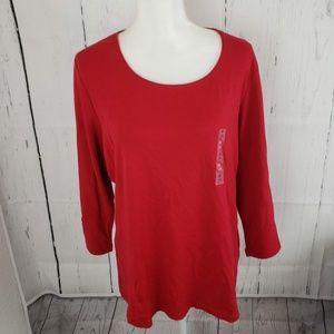 Karen Scott Tops - New Karen Scott Scoop Neck 3/4 Sleeve T Shirt Top